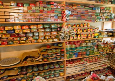 Shelves of Paper Maché